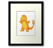 charmander cool design old school pokemon Framed Print