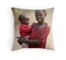 Seronga Sisters Throw Pillow
