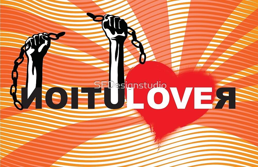 LOVE REVOLUTION graffiti illustration by SFDesignstudio
