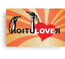 LOVE REVOLUTION graffiti illustration Canvas Print