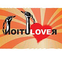LOVE REVOLUTION graffiti illustration Photographic Print