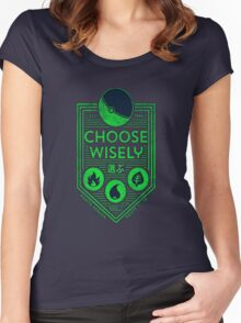 pokemon choose wisely Women's Fitted Scoop T-Shirt