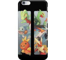pokemon 3rd gen starters megaevolved cool design iPhone Case/Skin