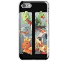 pokemon 3rd gen starters megaevolved cool design iPhone Case/Skin