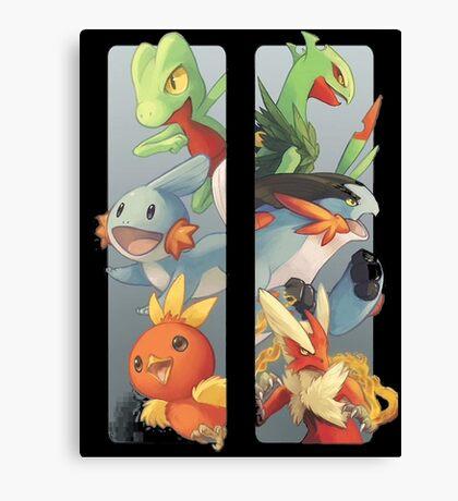 pokemon 3rd gen starters megaevolved cool design Canvas Print