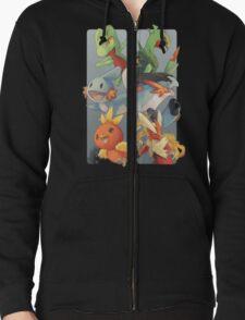 pokemon 3rd gen starters megaevolved cool design Zipped Hoodie