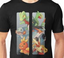 pokemon 3rd gen starters megaevolved cool design Unisex T-Shirt
