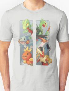 pokemon 3rd gen starters megaevolved cool design T-Shirt
