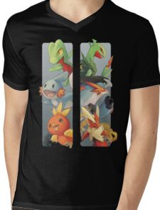 pokemon 3rd gen starters megaevolved cool design Mens V-Neck T-Shirt