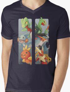 pokemon 3rd gen starters megaevolved cool design Mens V-Neck T-Shirt