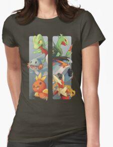 pokemon 3rd gen starters megaevolved cool design Womens Fitted T-Shirt