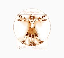Vitruvian Skater on white only Unisex T-Shirt
