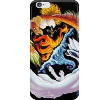 lugia and ho-ho battle iPhone Case/Skin