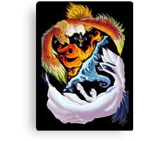 lugia and ho-ho battle Canvas Print