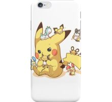 pikachu electric rodents iPhone Case/Skin
