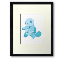 squirtle cool design old school pokemon Framed Print