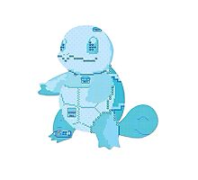 squirtle cool design old school pokemon Photographic Print