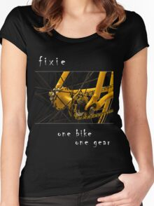 Fixie - one bike, one gear (black) Women's Fitted Scoop T-Shirt
