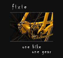 Fixie - one bike, one gear (black) Long Sleeve T-Shirt