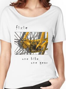 Fixie - one bike, one gear (white) Women's Relaxed Fit T-Shirt