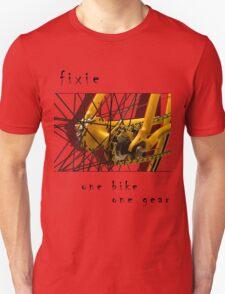 Fixie - one bike, one gear (white) T-Shirt