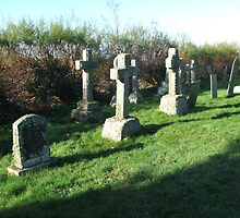 Crantock Church Graveyard by Carmen Bretherton