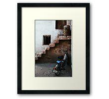 Bike And Stairs In Cappadocia Framed Print