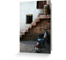 Bike And Stairs In Cappadocia Greeting Card