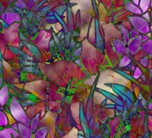Floral Abstract Stained Glass Sticker