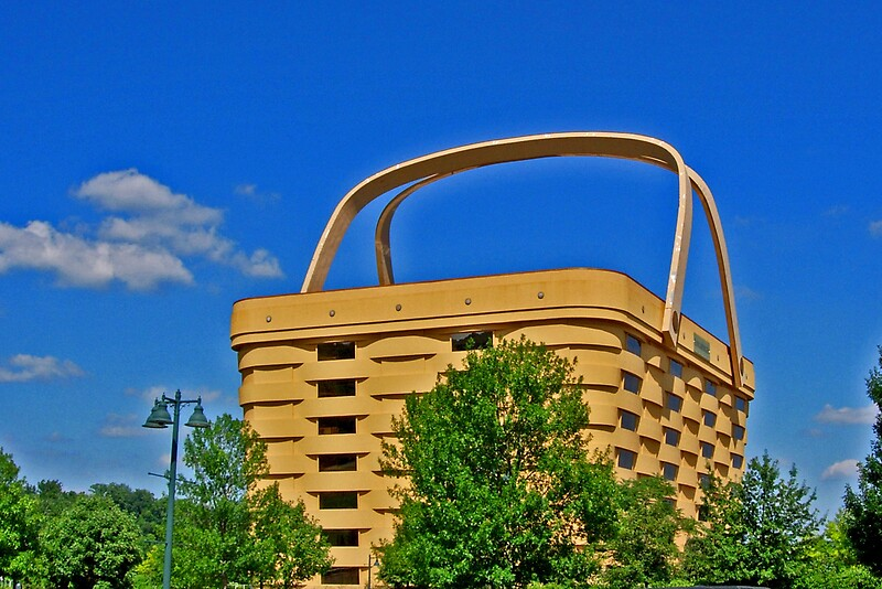 Longaberger Basket Office Building Greeting Cards By