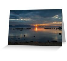 Sunset Zephyr Cove  Greeting Card