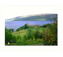 Loch Ness And Castle Art Print