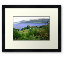 Loch Ness And Castle Framed Print