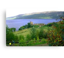 Loch Ness And Castle Canvas Print