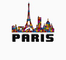 Paris Skyline Made With Lego Like Blocks T-Shirt