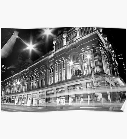 Queen Victoria Building BW Poster
