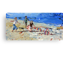 Kite Chasers Canvas Print