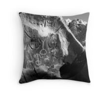 """Message from the Past"" Throw Pillow"