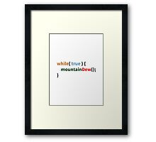 Mountain Dew Logic Framed Print