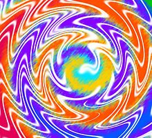 Tie Dye Swirls 2 by Susan Sowers