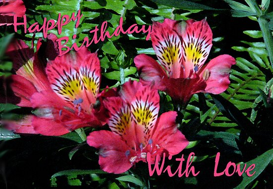 Happy Birthday small flowers by TLCGraphics