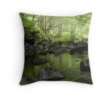 Green Peace Throw Pillow