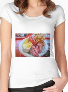 Lobster Dinner Maine  Women's Fitted Scoop T-Shirt
