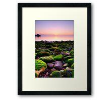 A rocky start Framed Print