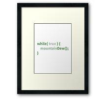 Mountain Dew Logic - Green Mode Framed Print