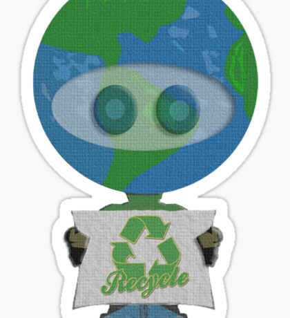 Earth Day Recycle t shirts Sticker