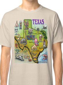 Texas Cartoon Map Classic T-Shirt