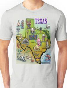Texas Cartoon Map Unisex T-Shirt