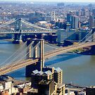 New York's Brooklyn Bridge by Mary Kaderabek-Aleckson