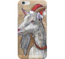 Christmas Goat iPhone Case/Skin